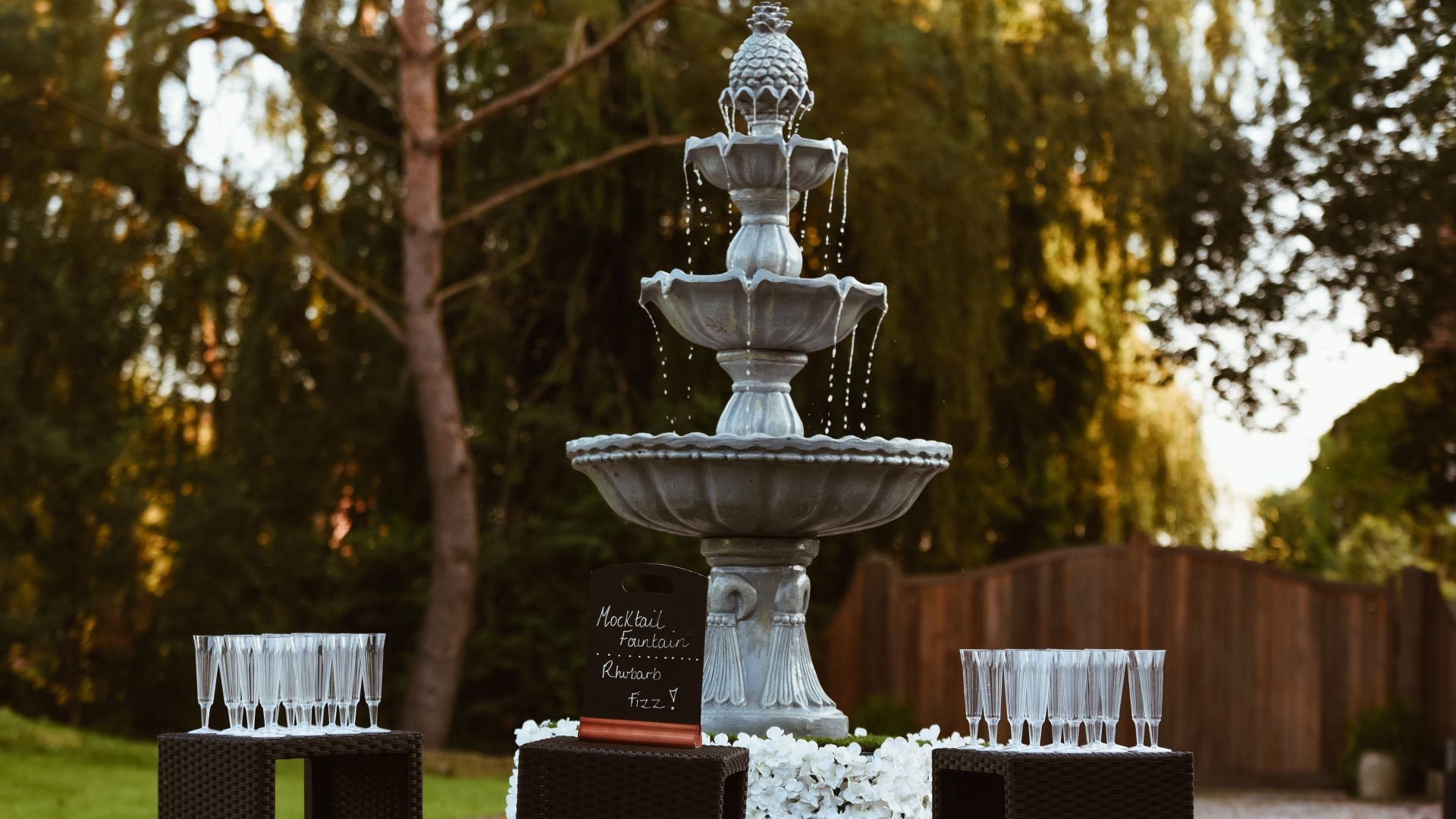 champagne fountain mocktail